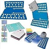 wlgreatsp Wäscherei-Faltbrett, verstellbare Wäschemappe Einfach und schnell - Erwachsenenkleid Hose Handtücher T-Shirt Folder Bord/Easy Laundry Folder Organizer, Blau