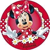 Minnie Mouse Runde Tortenaufleger -1