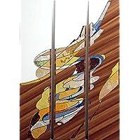 Pannello trittico in mosaico