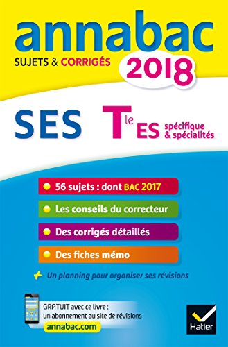 Annales Annabac 2018 SES Tle ES: sujets ...