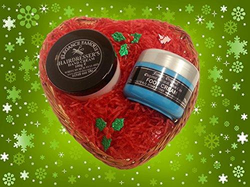 Friseure Weihnachten Geschenk Set, Enthält unsere Friseure Hand Creme und Original Fuß Creme von Eleganz natürlicher Haut Pflege