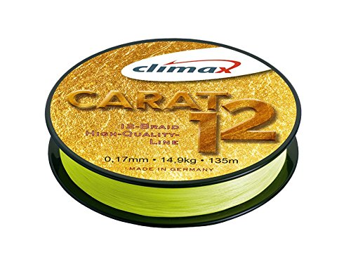 Climax 'Multifilament Braided Line Carat 12135m-Gelb-Yellow, 0.17mm