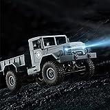 Fulltime WPLB-14 4WD RC Militär LKW Legierung Chassic Rahmen 2.4G Wireless 1/16 Tough Truck mit 3kg Tragfähigkeit, 4 unabhängige Aufhängung mit 3 Differentialsystem, 34 x 14 x 15cm, 1200g (Armeegrün)