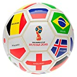 FIFA World Cup 2018 Nations Football White/Multi Soccer Ball Size 5