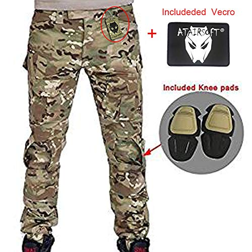 Herren Shooting BDU Combat Hose Hose mit Knie Pads Multicam MC für Tactical Military Armee Airsoft Paintball Medium Multicam Military Combat Hose