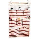 jecxep Storage Tür Tasche Baumwolle Stoff Wand Closet hängende Aufbewahrung Tasche Halter 8Taschen Kinderzimmer Space Saver Organizer Fall Rot