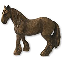 The Leonardo Collection Reflections Bronzed Shire Horse Ornament, Resin, 16x6x14cm, LP41952