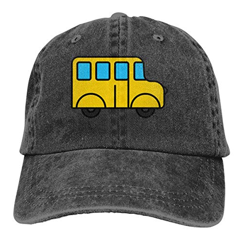 Funny Club Unisex Vintage Washed Baseball Cap Cutee School Bus Cotton Adjustable for Men Women Detroit Tigers-baseball-park