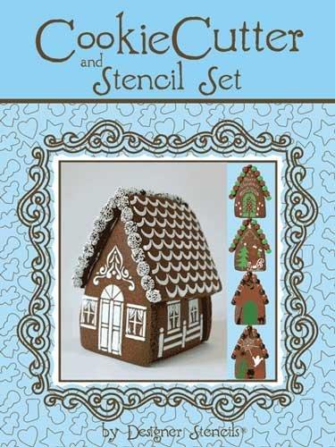 Designer Stencils TS065 - Gingerbread House Stencil Kit with Tin Cutters by Designer Stencils - Cutter Tin Set