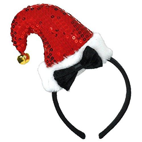 Amscan Santa, Kopfband, 9von 12,7cm rot/schwarz/weiß