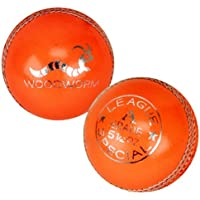 6 x Woodworm League Special 5 1/2oz Cricket Balls ORANGE