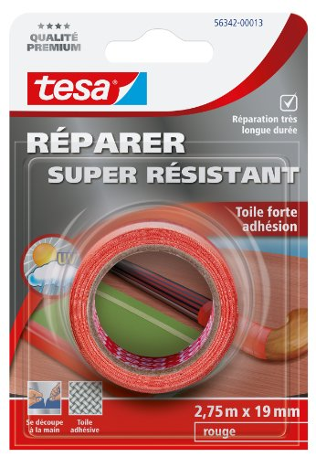 Tesa Réparer Super Résistant Klebeband, stark haftend, Rot