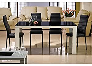 MyMeubleDeco - Table Modeon noir 90x160 cm