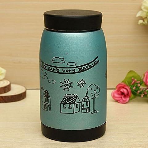 Buwico 250ml THERMO Taza vacío frascos té café taza térmica exterior Botella de Thermos accesorios de viaje, color