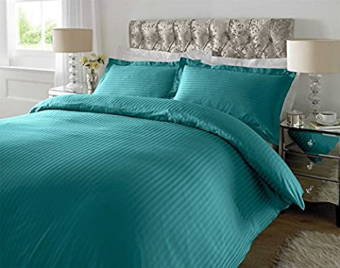 ED Pure Luxury 100% Cotton sateen stripe 300 Thread Count (King/Teal)