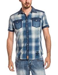 Timezone - Chemise casual Homme - 27-5004 Denim shortsleeve shirt