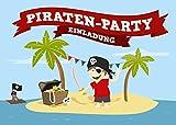 Yohmoe Piratenparty Einladungskarten Zum Kindergeburtstag (12 Karten)