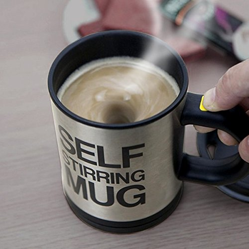 Dolphy Stainless Steel Automatic Self Stirring Coffee Mug