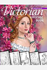 Victorian Coloring Book. Grayscale: Coloring Book for Adults Broché