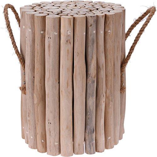 Hocker Teak Zweige Seil Griffe Garten-Möbel Sommer im -
