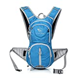 SPFAS Lightweight Cycling Rucksack, 12L Waterproof Bike Backpack and Breathable Hiking Backpack Daypack