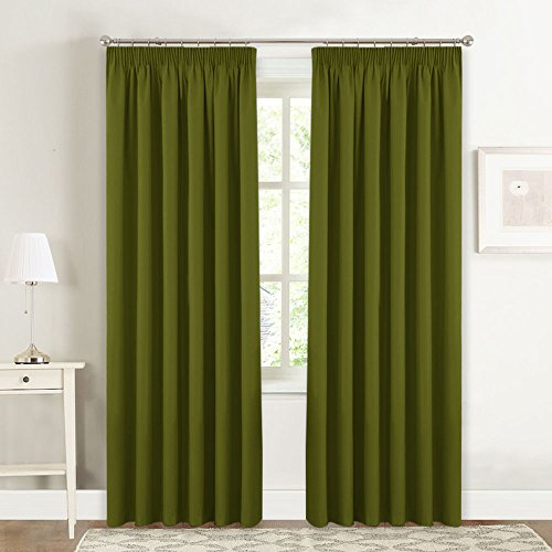 Olive Green Curtains Amazon Co Uk