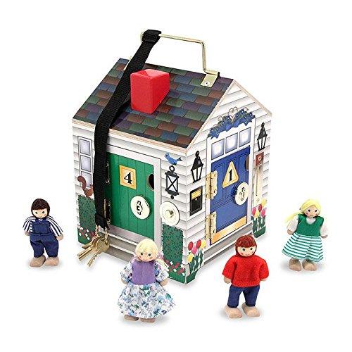 Melissa & Doug Holzhaus mit Türklingeln und Spielfiguren (5 Teile)