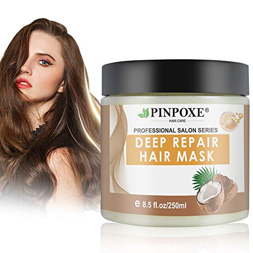 Haarmaske, Hair Mask, Hair Treatment, Conditioner Haarkur, Argan oil & Keratin Haarkuren strapaziertes und trockenes Haare, Hair Mask für gefärbte Haarpflege & Haarglättung, 250 ml -