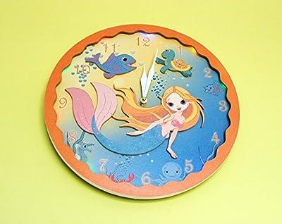 Wall Clock Mermaid Night Wall Clock - 'Under the Sea' (29 cm)
