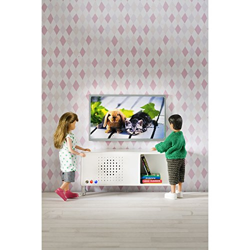 Lundby 60.2082.00 - Musica e TV Set Bluetooth mini bambola capace con accessori
