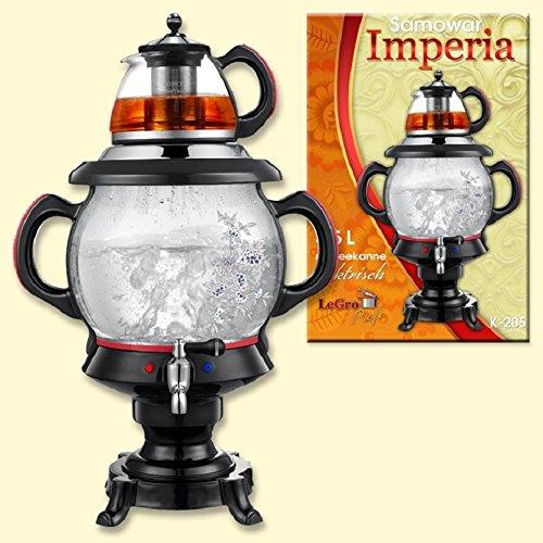 """Samowar \""""Imperia\"""" schwarz 4 L,mit Teekanne,elektrisch / Самовар \""""Империя\"""" электр"""