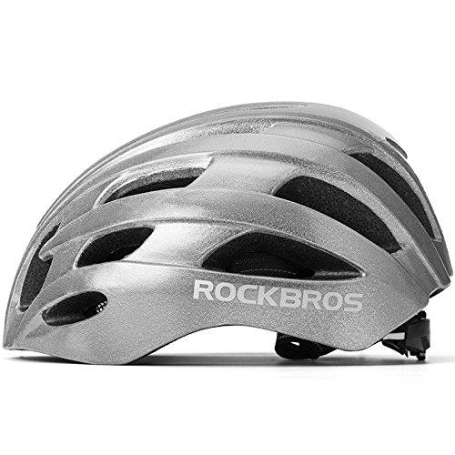 ROCKBROS Fahrradhelm Herren Damen Radhelm 57-62cm Integriert EPS/PC mit 20 Belütungsöffnungen Ultraleicht Stoßfest Reflektierend