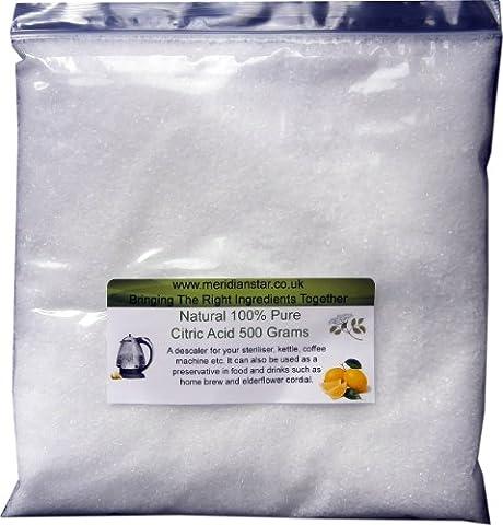 Citric Acid 500 Grams. Food Grade.
