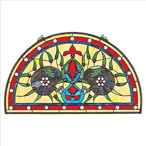 Design Toscano Palladios Demi-Lune vetrata, Multicolore