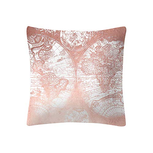 Aobuang Clearance Kissenbezug, Roségold, Pink, Sofakissenbezug, Dekoration, 45,7 x 45,7 cm h