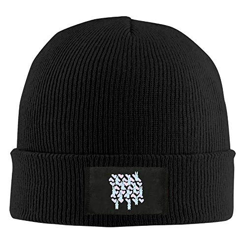 Unisex Chinese Dragon Red Elastic Knitted Beanie Cap Winter Outdoor Warm Skull Hats Running -