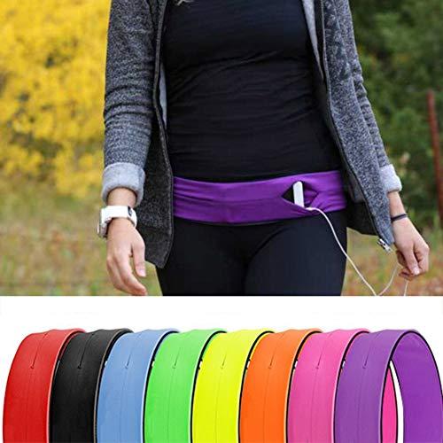 SEGRJ Unsichtbarer Outdoor-Sport-Running Elastic Unisex Phone Holder Waist Bag Belt