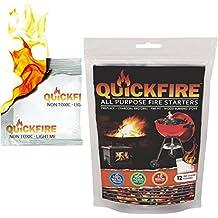 Quickfire – Firestarters votado # 1 Camping barbacoa de carbón de & Fire Starter. Quemaduras hasta 10 min en más de 750 ° – 100% resistente al agua, ...