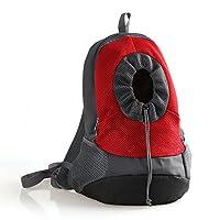Kismaple Pet Dog Carrier Bag Backpack Head out Carrier Double Shoulder Bag Pet Backpack for Walking, Hiking,Travel, Bike and Motorcycle
