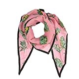 pom Amsterdam Tuch Jungle Leaves Halstuch Damen Pink