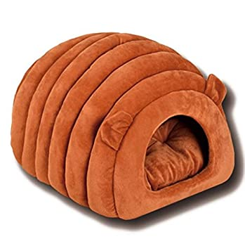 DOUERDOUYUU Grand Cadeau Fournitures pour Animaux Semi-fermé Creative Warm Pet Nest Fournitures pour Animaux de Compagnie Brown