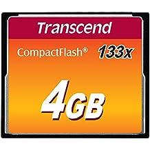Transcend TS4GCF133 Compact Flash Scheda di Memoria, 4 GB, 133x