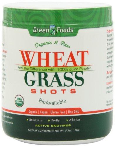 Erba Di Grano 150gram - Wheat Grass Shoots -  Succo Biologico Polverizzato Di Giovani Foglie Di Erba Di Grano.