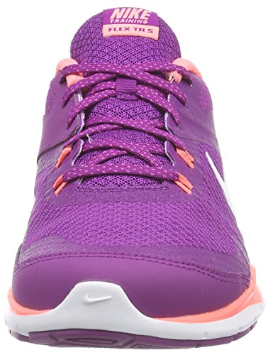 Nike Flex Trainer 5 Damen Laufschuhe Violett (Bold Berry/White-lava glow 500)