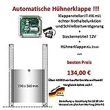 JOSTechnik automatische Hühnerklappe JT-HK + Klappe! Aktion vom Hersteller !!