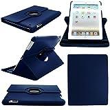 Perfekte Wahl Eleganter Cases für Apple iPad Air 2-360drehbar PU Leder Ständer Schutzhülle-Dark Blau