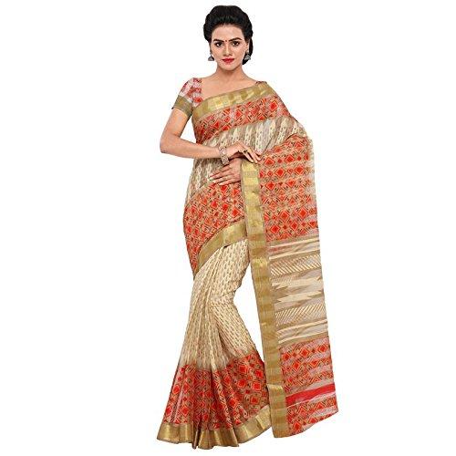 Samskruti Sarees Samskruti Multicolor Cotton Silk Designer saree with Zari Border