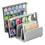 mDesign Kosmetik Organizer – Aufbewahrungsbox mit fünf Fächern für Make-up, Nagellack und Beautyprodukte – die ideale Schminkaufbewahrung – grau
