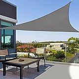 Greenbay - Dreieck 2x2x2m - Garten UV-beständig Sonnensegel Sonnenschutz Atmungsaktiv Schatten Segel für Balkon und Terrasse (Anthrazit)