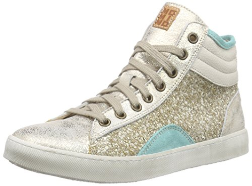 Momino 2880N Mädchen Hohe Sneakers Gold (Platino)
